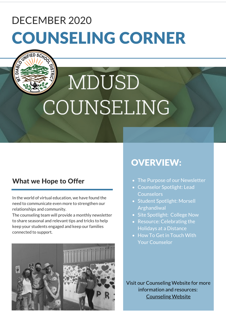 Counseling Corner